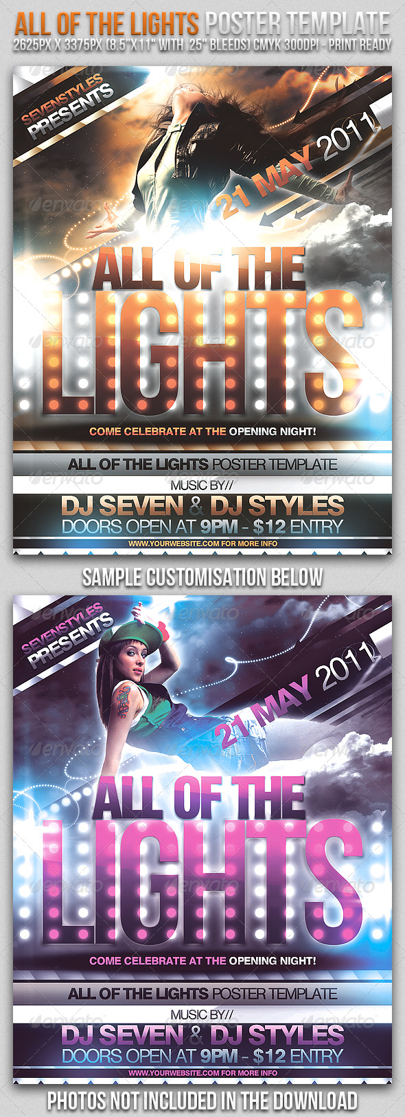 GraphicRiver Lights Poster Flyer Template 166517