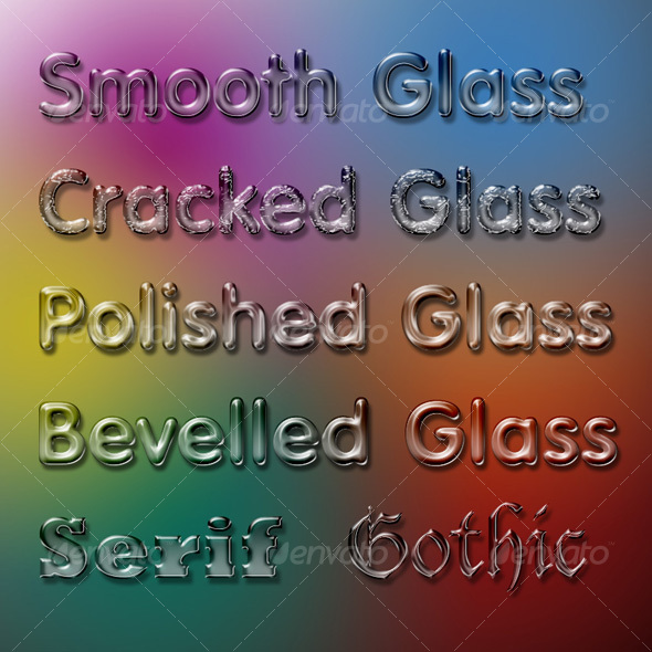 GraphicRiver Glass Effect Photoshop Styles 44126
