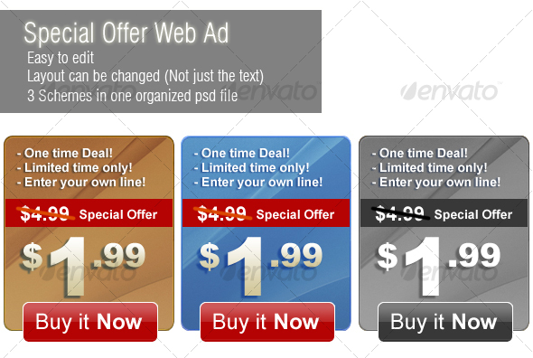 GraphicRiver Special Offer Web Banner 55577