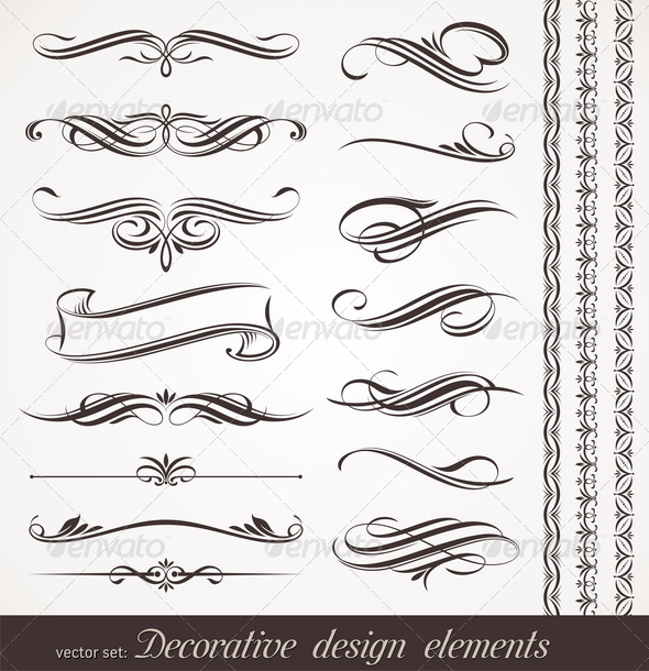 GraphicRiver Vector Decorative Design Elements & Page Decor 1406568