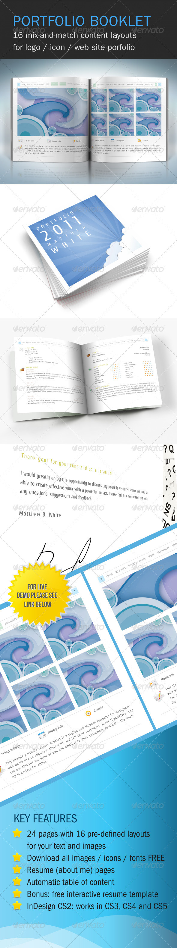 GraphicRiver Flexible Portfolio Booklet with Resume 212630