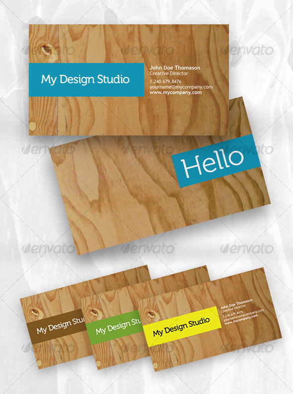 GraphicRiver Designer business card plywood style 55787