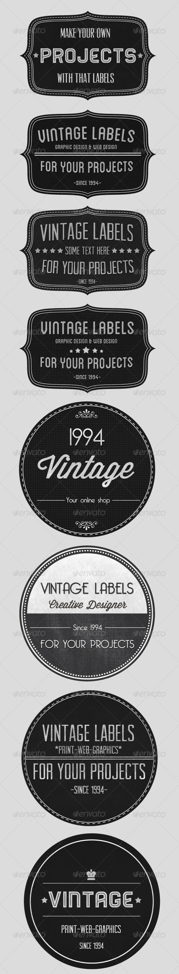 GraphicRiver Vintage Badges Set 1410264