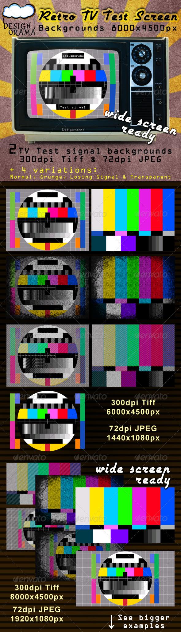 GraphicRiver Retro TV Test Screen 168073
