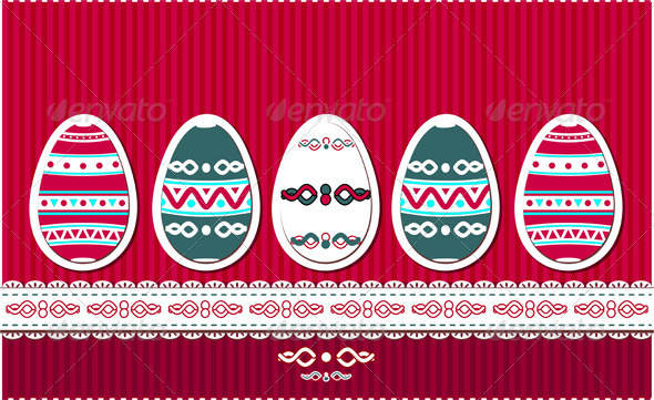 Graphic River Easter eggs with ethnic ornament Vectors -  Conceptual  Seasons/Holidays  Miscellaneous 1414284