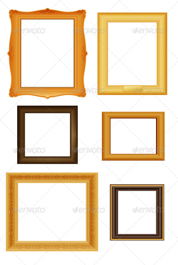 Graphic River Picture frames vector set Vectors -  Decorative 168147