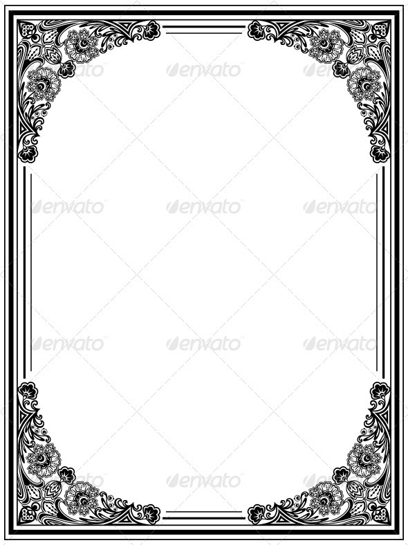 Graphic River Decorative frame Vectors -  Decorative  Borders 1415249