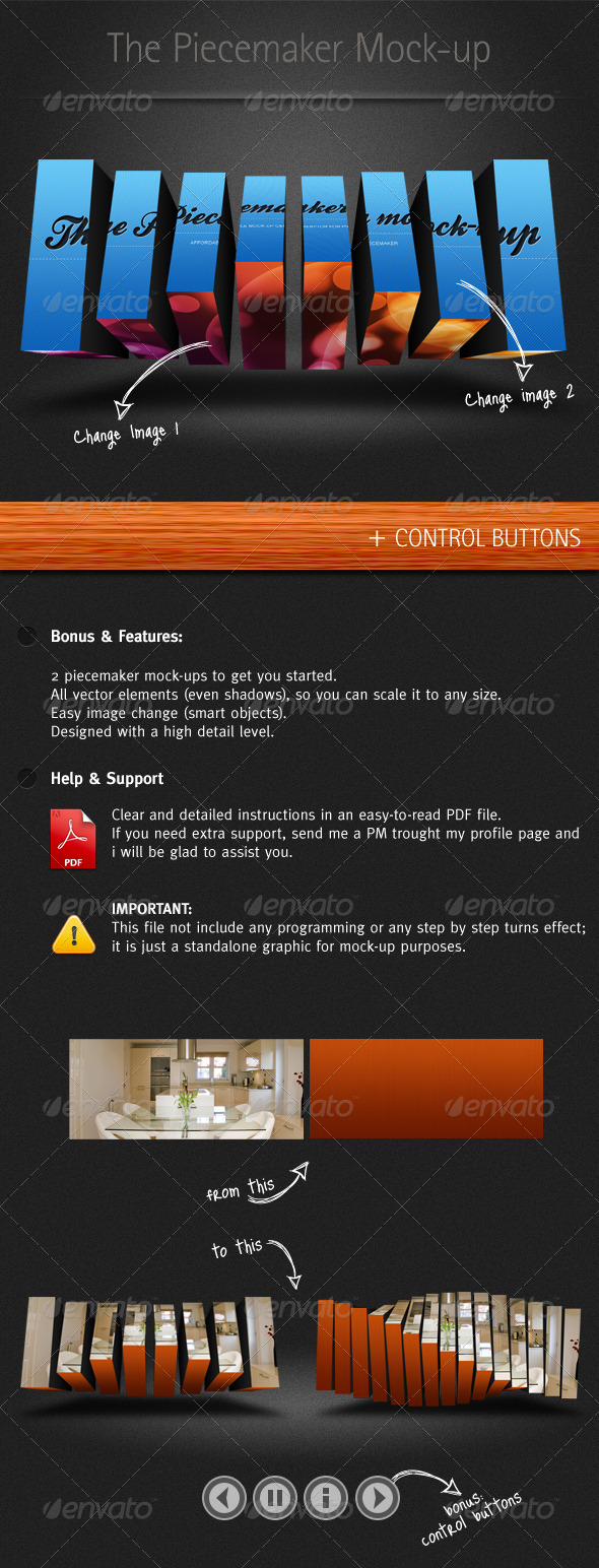 GraphicRiver Piecemaker Mock-up 166187