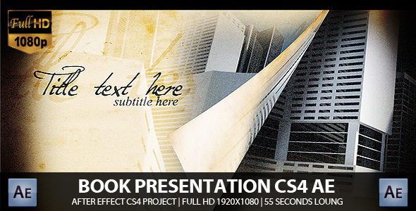 After Effects Project - VideoHive Old Book Presentation V.2 CS4 Project 168398
