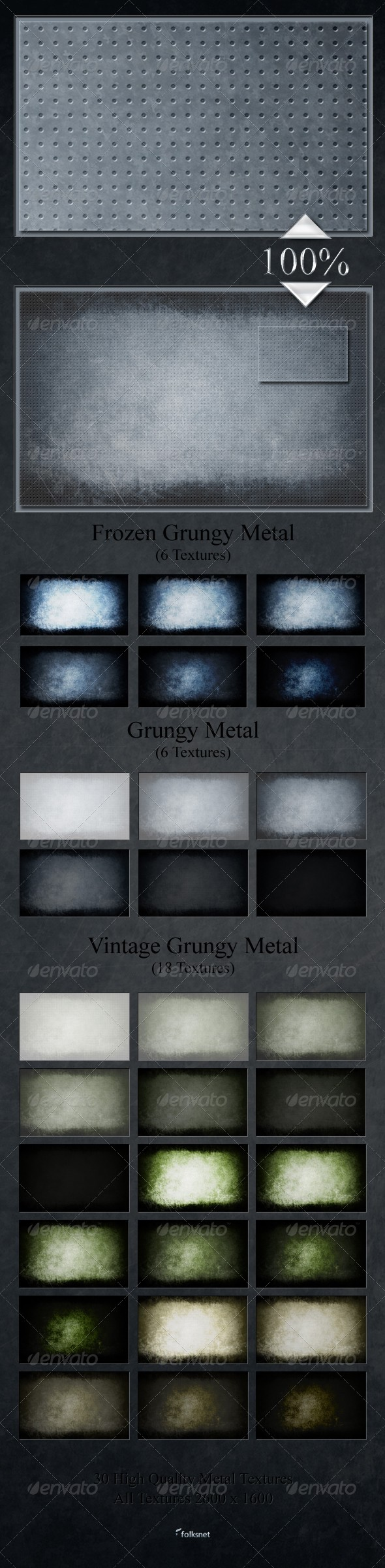 GraphicRiver Grungy Metal Textures 168440