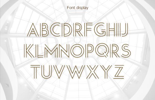 Outline-Creative font - 1