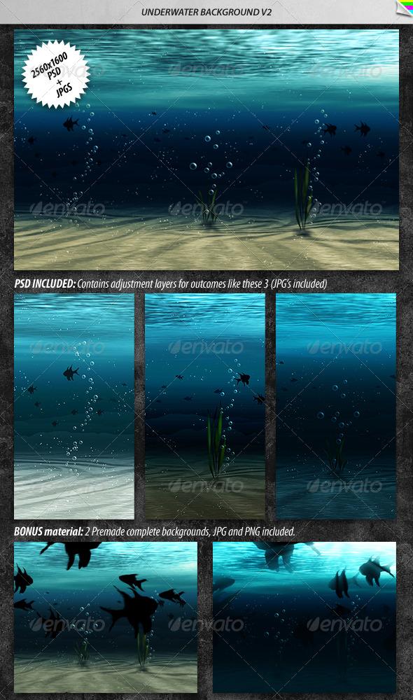 GraphicRiver Underwater Background 2 168554