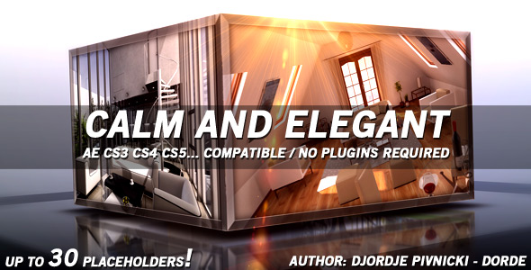 After Effects Project - VideoHive Calm and Elegant 168604