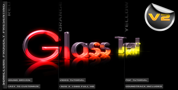 After Effects Project - VideoHive 3D Crystal Glass Text Audio Driven Illumi ...