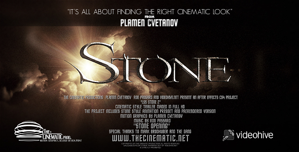 After Effects Project - VideoHive LS Series Stone V2 168625