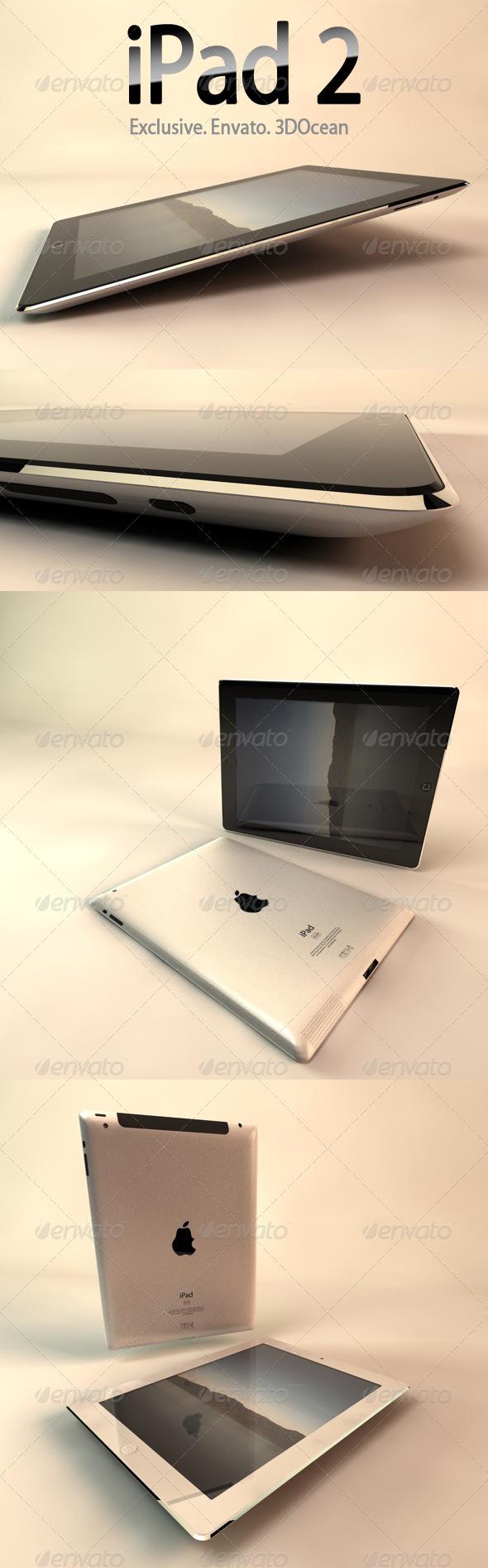3DOcean iPad 2 3D Models -  Electronics 168633