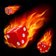 Dice in fire - GraphicRiver Item for Sale