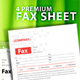 4 PREMIUM MODERN AND CLEAN FAX SHEET  - GraphicRiver Item for Sale