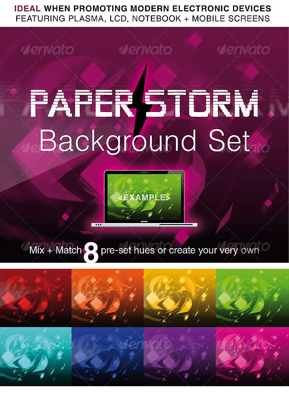 GraphicRiver PAPER STORM ABSTRACT BACKGROUND PACK 56340