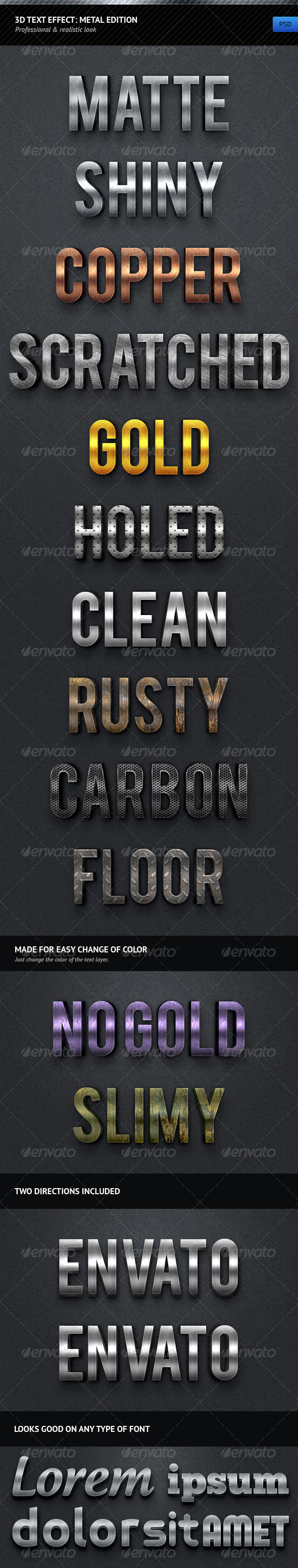 GraphicRiver 3D Text Effect Metal Edition 787231