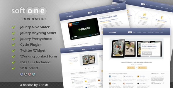 ThemeForest Softone Software App HTML Template 1411116