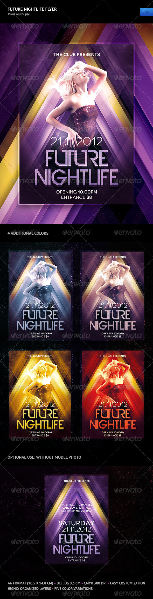 GraphicRiver Future Nightlife Flyer 1252034