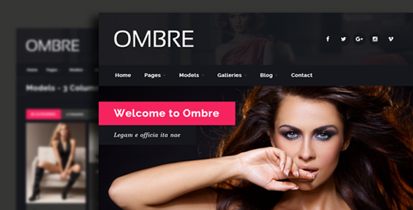 Ombre model agency fashion html template by egemenerd for Escort directory template