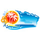 Tropical Coastline Emblem - GraphicRiver Item for Sale