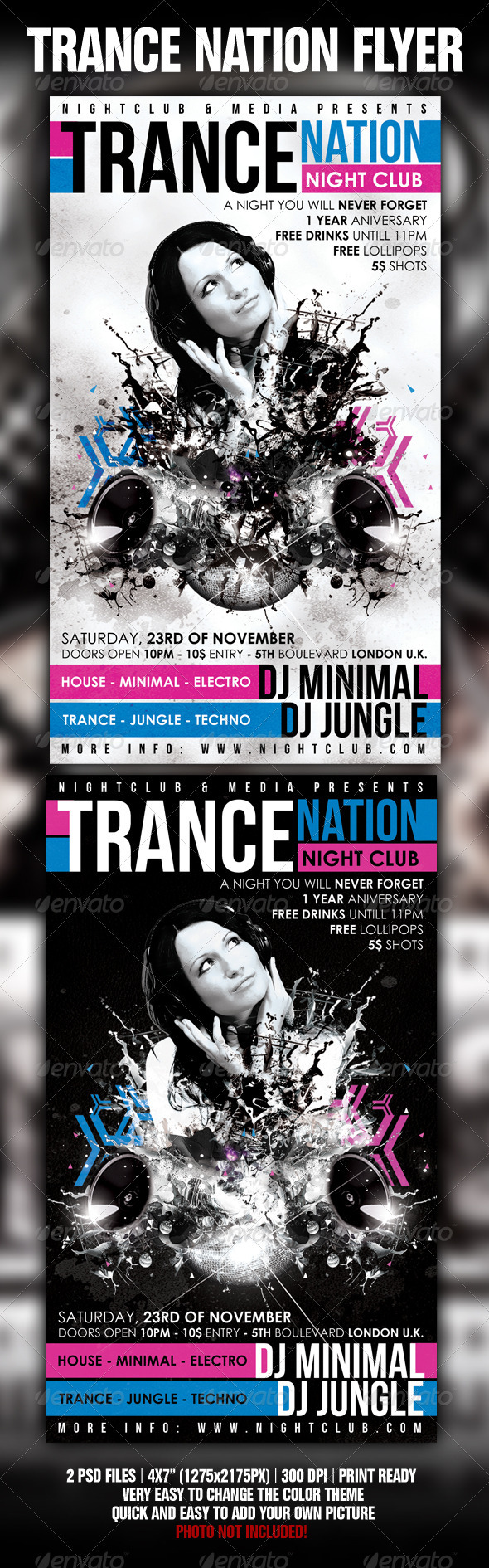 GraphicRiver Trance Flyer Template 1430181