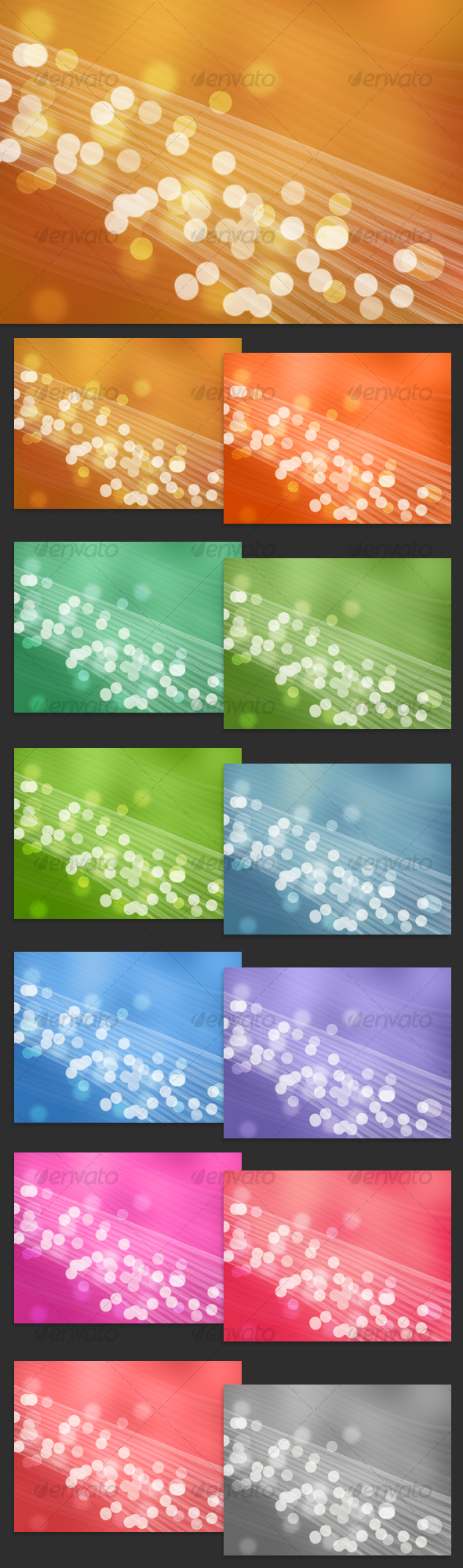 GraphicRiver Light Bubbles Abstract Background Pack 56685