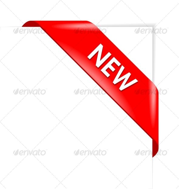 GraphicRiver New red corner business ribbon 56726