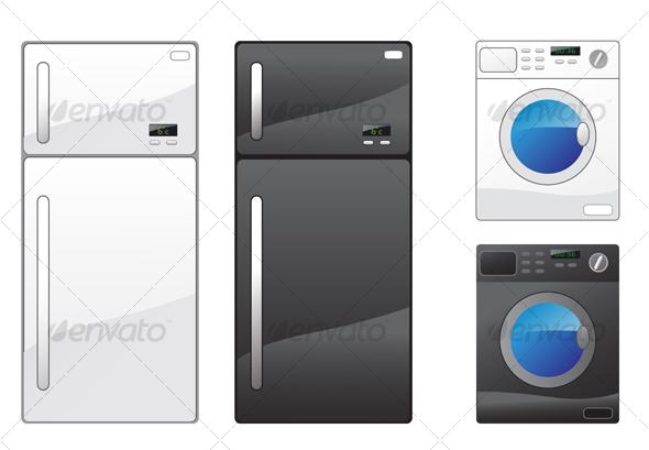 GraphicRiver Refrigerator and washing machine 56798