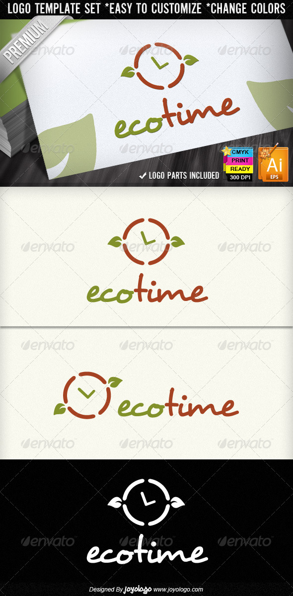 Graphic River Eco Time Organic Leaf Ecology Logo Designs  Logo Templates -  Nature 1437503