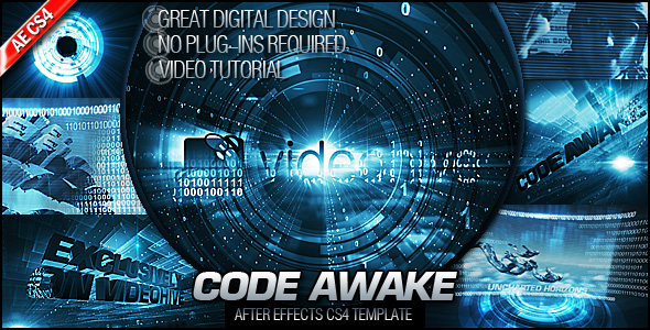 After Effects Project - VideoHive Code Awake 170691