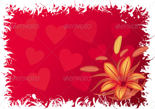 Graphic River Valentines grunge background with hearts Vectors -  Conceptual  Seasons/Holidays  Valentines 1439086