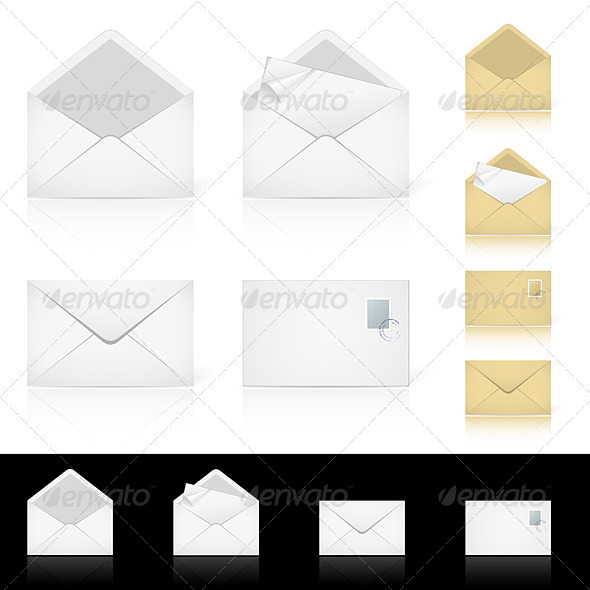 Graphic River Set of different icons for e-mail Vectors -  Characters 1441862