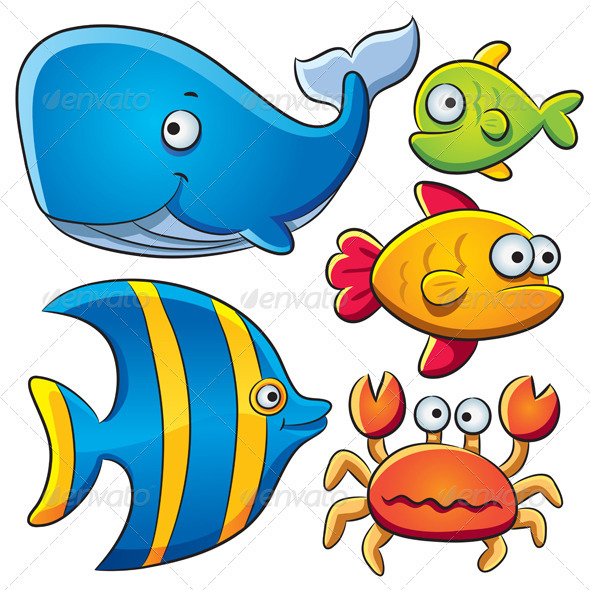 Graphic River Sea Fish Collection Vectors -  Characters  Animals 1442146