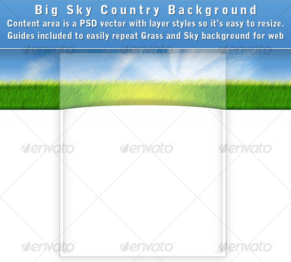 GraphicRiver Big Sky Country Web Page Background 57077