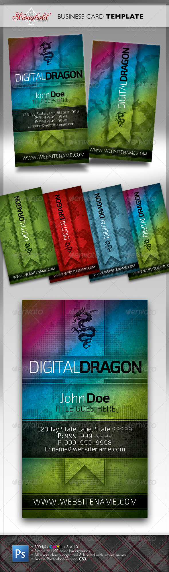 GraphicRiver Digital Dragon Business Card Template 1449058