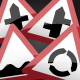 UK Road Signs: Warnings 1 - GraphicRiver Item for Sale