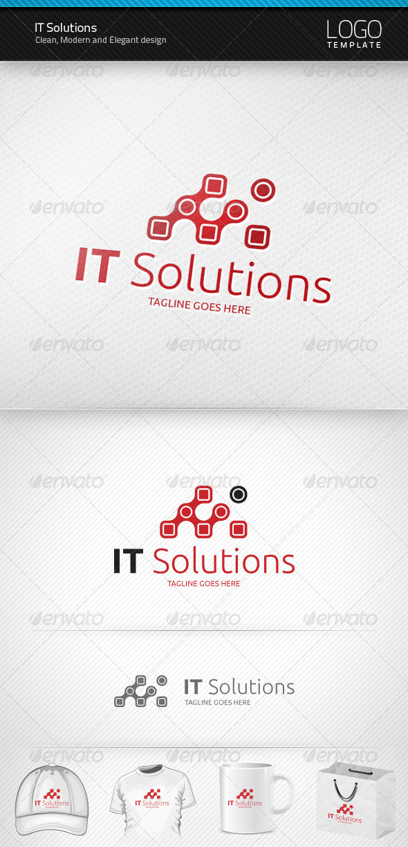 GraphicRiver IT Solutions Logo 1453722