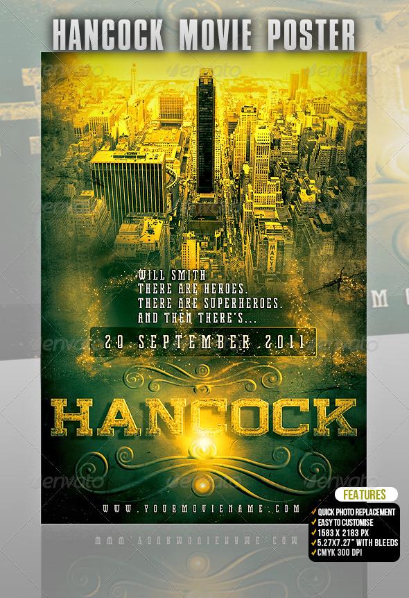 GraphicRiver Hancock Movie Poster 502437