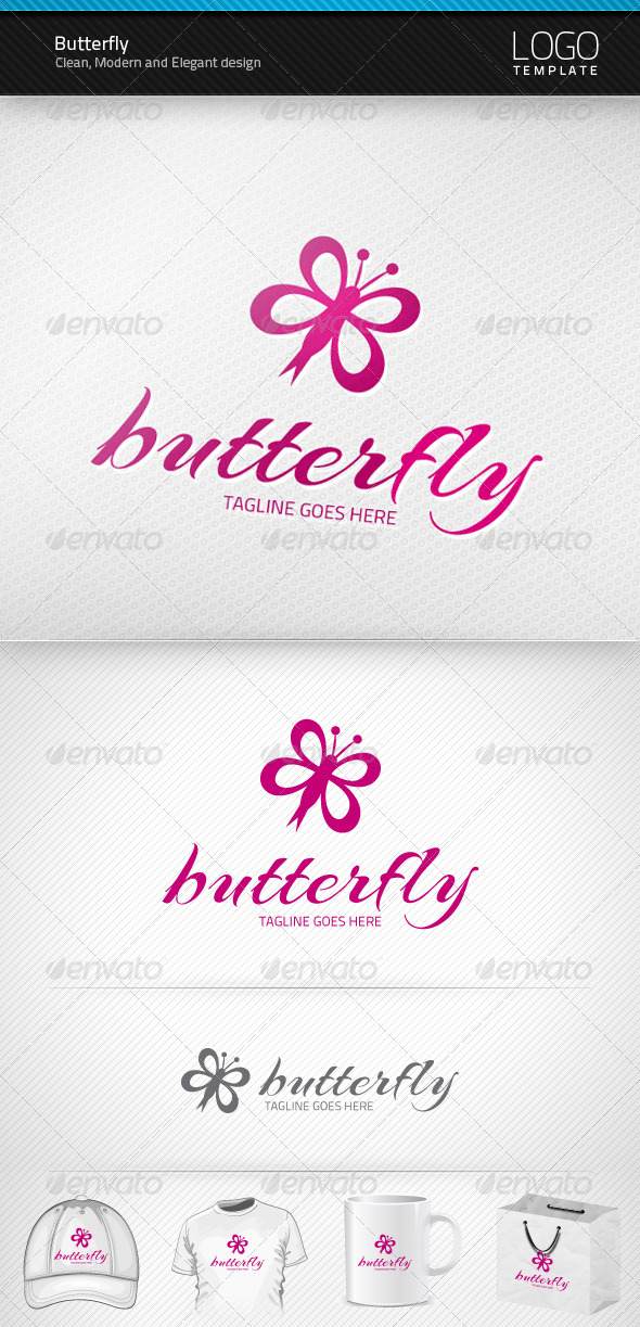 GraphicRiver Butterfly Logo 1455060