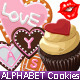 Alphabet cookies and cup cakes - GraphicRiver Item for Sale