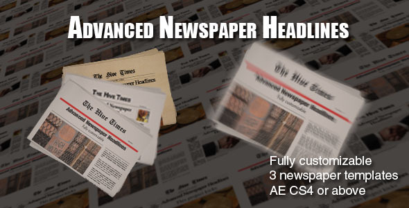 After Effects Project - VideoHive Advanced Newspaper Headlines 1360941