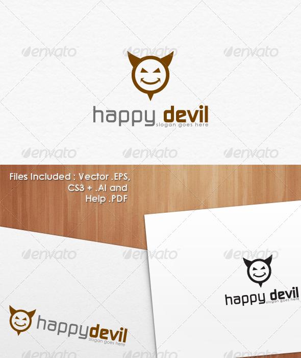 GraphicRiver Happy Devil Logo Template Design 1456257