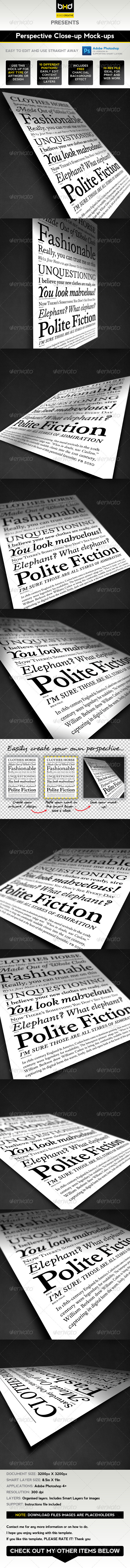 GraphicRiver Perspective Mock-ups 1303777