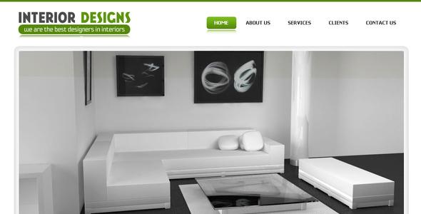 ThemeForest Interior Designs Simple Pro Elegant Template 57554