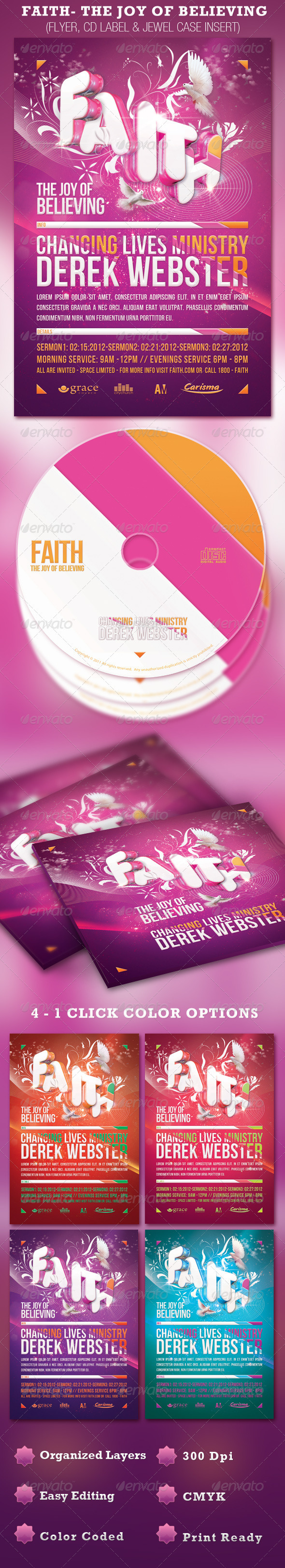 GraphicRiver Faith-The Joy of Believing Flyer and CD Template 1457639