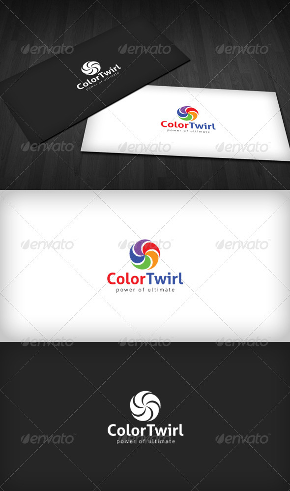 Graphic River Color Twirl Logo Logo Templates -  Abstract  Vector 1458113